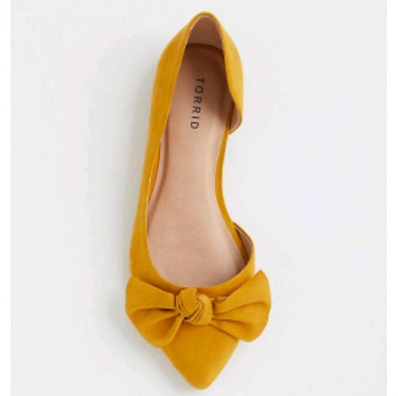 58476fd574f3 Torrid Mustard Bow Flats